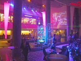 Party in the Atrium of the Westin Bonaventure Hotel, Los Angeles, CA.